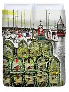 Lobster Pots Kilmore Quay, Wexford, Ireland, Poster Effect 1a Duvet Cover