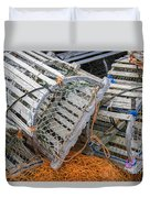 Lobster Traps Duvet Cover