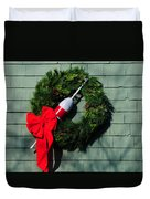 Lobsterman's Christmas Wreath Duvet Cover