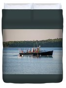 Lobstermen At Work  Duvet Cover