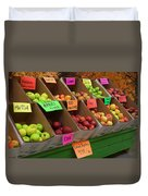 Local Apples For Sale Duvet Cover