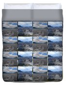 Loch Ness In Squares Duvet Cover