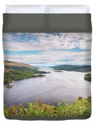 Loch Riddon And Isle Of Bute Duvet Cover