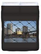 Lock And Bridge  Duvet Cover