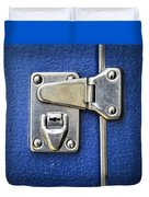 Lock On A Blue Suitcase Duvet Cover