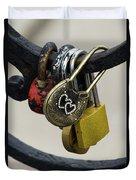 Lock With Rhinestones Duvet Cover