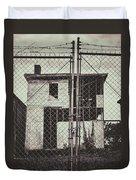 Locked Fence Duvet Cover