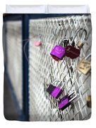 Locks On Bridge Duvet Cover