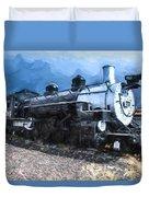 Locomotive 495 A Romantic View Duvet Cover