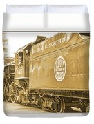 Locomotive And Coal Car Of Yesteryear Duvet Cover