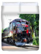 Locomotive In Color Duvet Cover