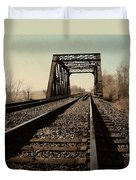 Locomotive Truss Bridge Duvet Cover