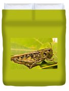 Locust In Green Duvet Cover