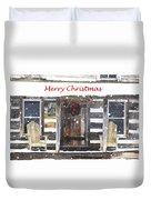 Log Cabin Christmas Duvet Cover