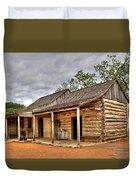 Log Cabin In Lbj State Park Duvet Cover