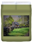 Log Cabin, Smoky Mountains, Tennessee Duvet Cover