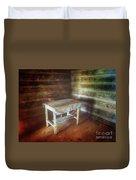 Log Cabin Table Duvet Cover