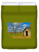 Log Cabin Valley Forge Pa Duvet Cover