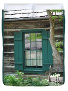 Log Cabin Window Duvet Cover