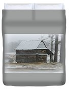 Log Tabacco Shed Duvet Cover