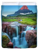 Logan Pass Abyss Duvet Cover