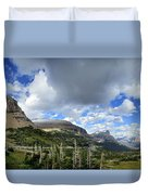 Logan Pass Panorama - Glacier National Park Duvet Cover