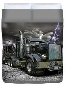 Logger On A Stormy Night Duvet Cover