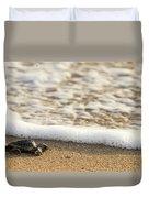 Loggerhead Turtle Hatchling 3 Delray Beach Florida Duvet Cover