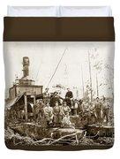 Logging, Clemons Camp No. 3 No. 1, Circa 1920 Duvet Cover