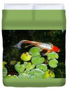 Loi With Lily Pads C Duvet Cover