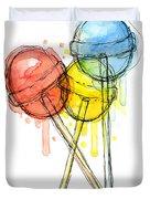 Lollipop Candy Watercolor Duvet Cover