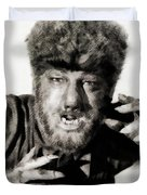 Lon Chaney, Jr. As Wolfman Duvet Cover