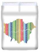 London Boroughs Map - Rainbow Duvet Cover