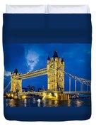 London Bridge Panorama Duvet Cover