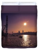 London By Night By Day Duvet Cover