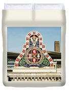 London Chatham And Dover Railway Crest With Invicta Motto Blackfriars Railway Station Duvet Cover