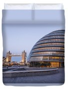 London City Hall And Tower Bridge. Duvet Cover