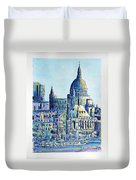 London City St Paul's Cathedral Duvet Cover