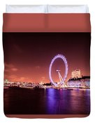 London Cityscape On River Thames Duvet Cover