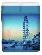 London Eye At Dusk Duvet Cover