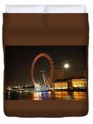 London Eye At Night Duvet Cover