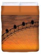 London Eye Sunset Duvet Cover