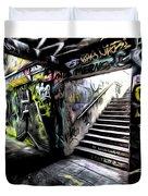 London Graffiti Art Duvet Cover