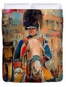 London Guard On Horse Duvet Cover