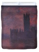 London Houses Of Parliament At Sunset  Duvet Cover