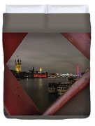 London In My Window Duvet Cover