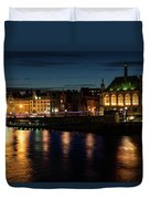 London Night Magic - Colorful Reflections On The Thames River Duvet Cover