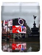London Piccadilly On A Rainy Day Duvet Cover