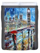 London Rainy Evening Duvet Cover