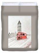London Red Bus Duvet Cover
